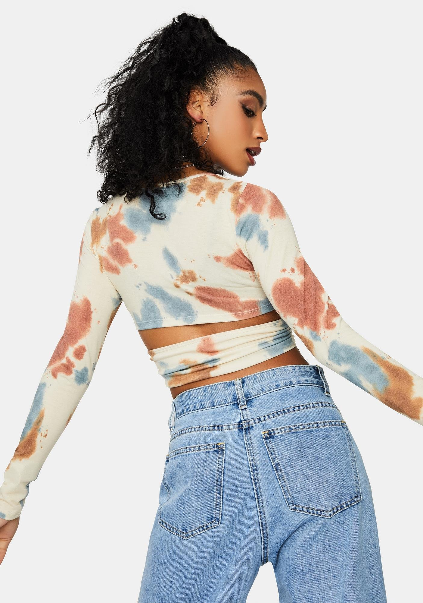 All About Me Tie Dye Crop Top