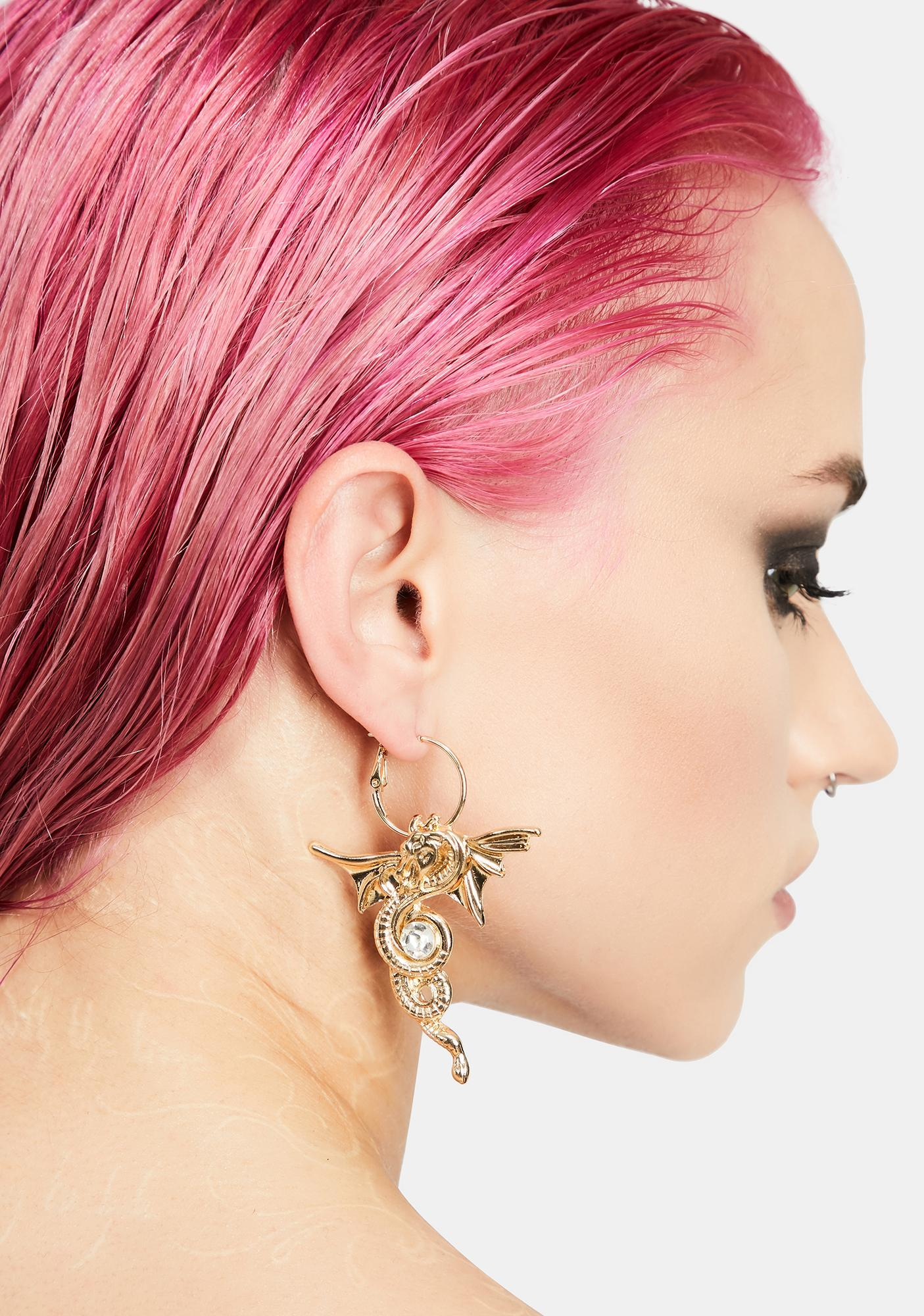 Legend Has It Dragon Earrings