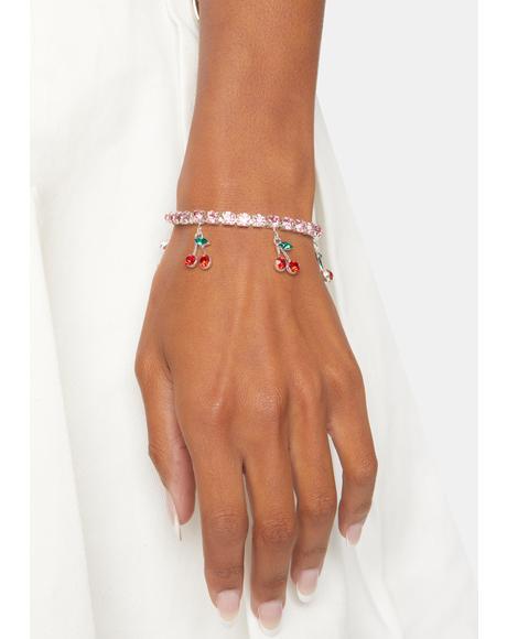 Bling Kisses Charm Bracelet
