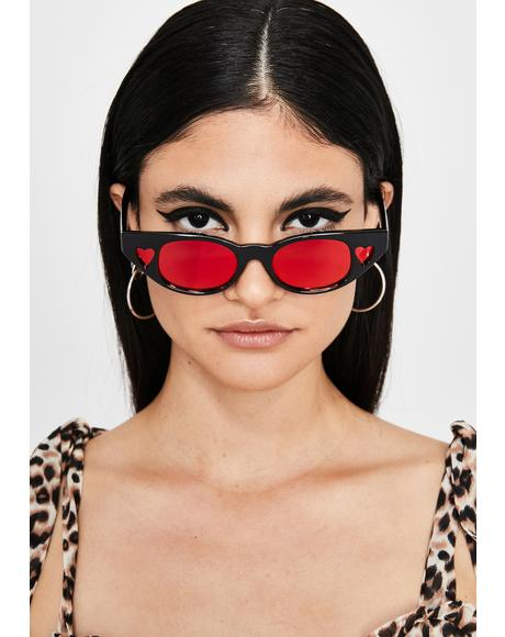 Crazy Love Heart Sunglasses