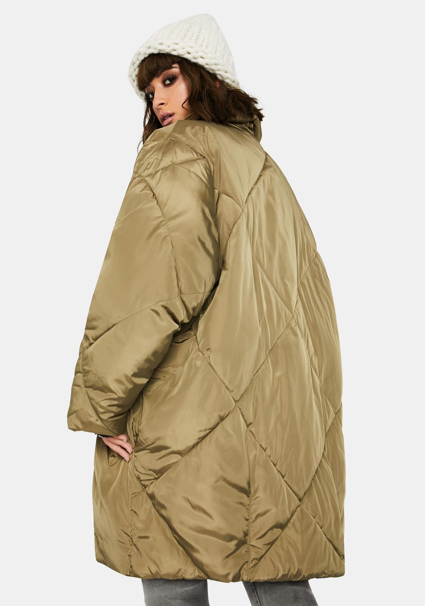 Free People Olive Ella Puffer Coat