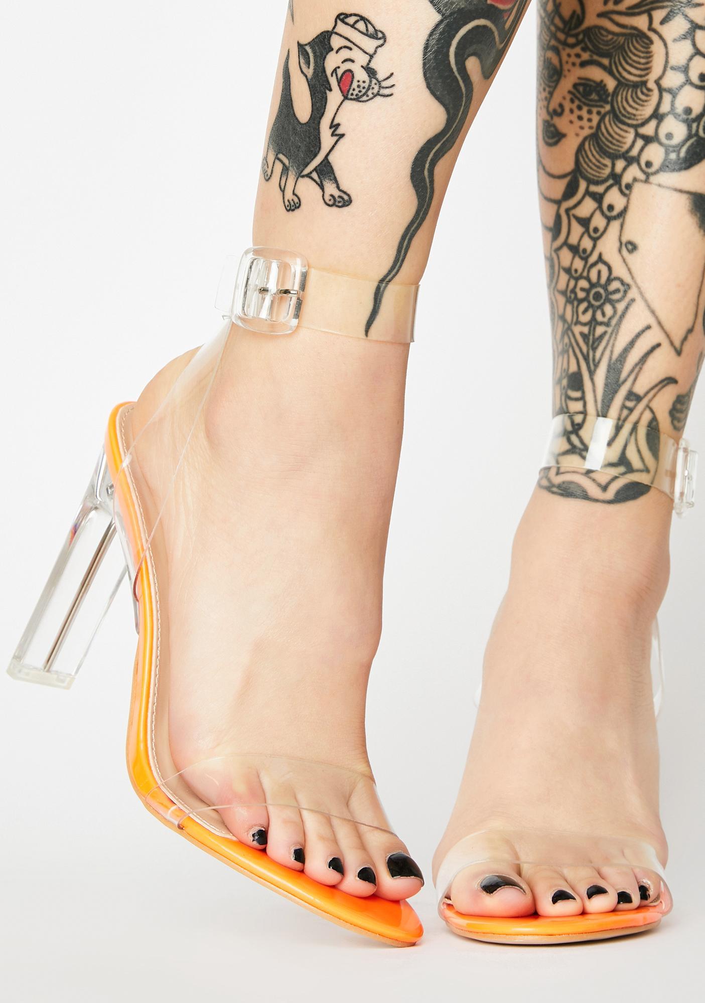 Public Desire Slice Perspex Clear Heels
