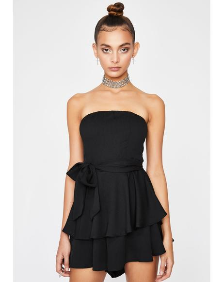 Night Gurl Bye Ruffle Romper