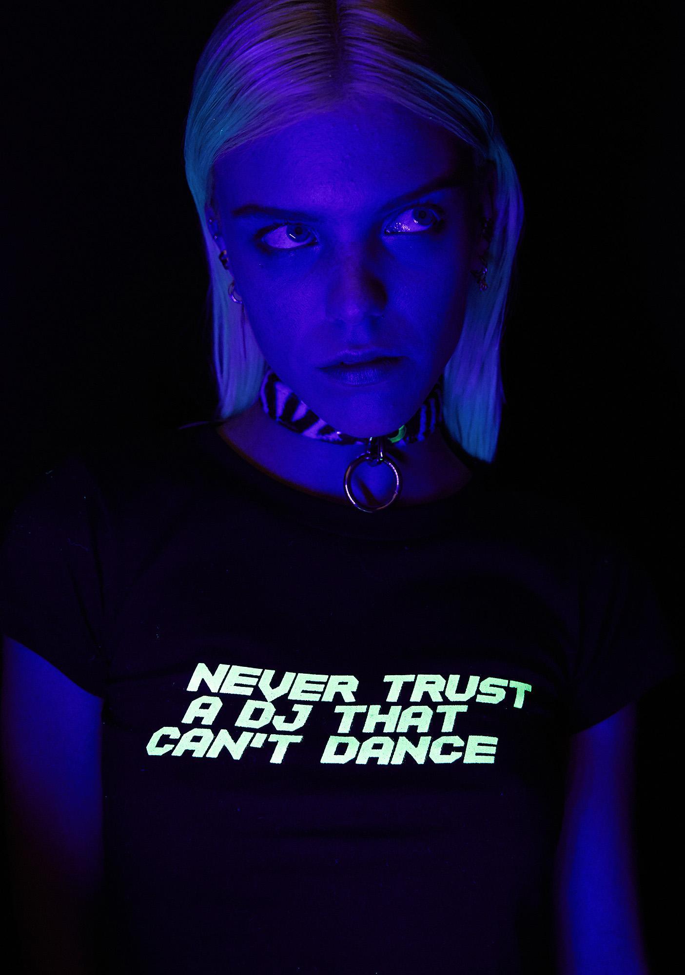Club Exx Never Trust A DJ Tee