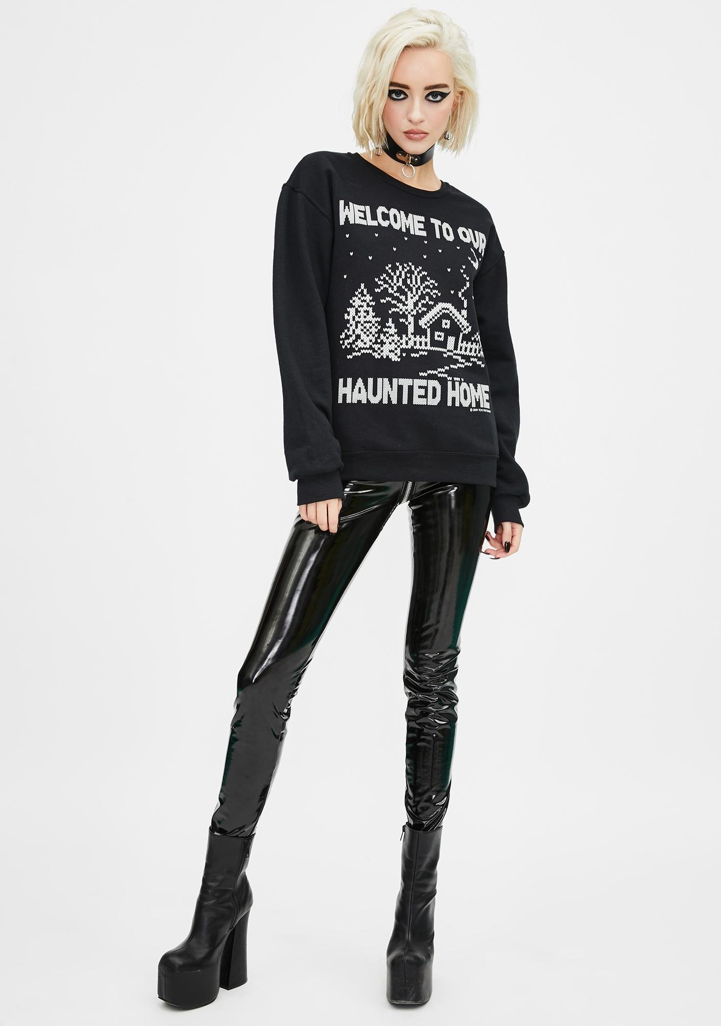 Too Fast Welcome To Our Haunted Home Sweater