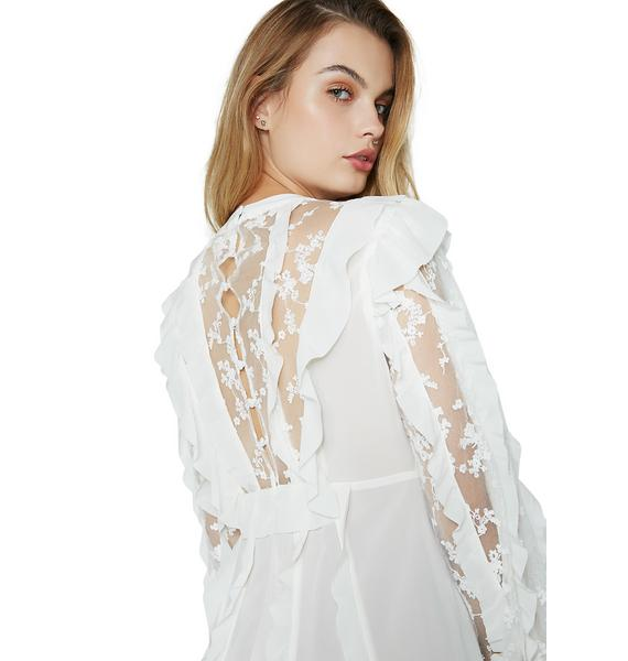 For Love & Lemons Rosebud Ruffle Mini Dress