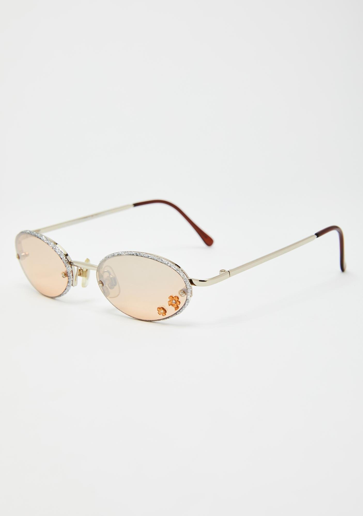 Replay Vintage Sunglasses Chrome Just A Girl Flower Sunglasses