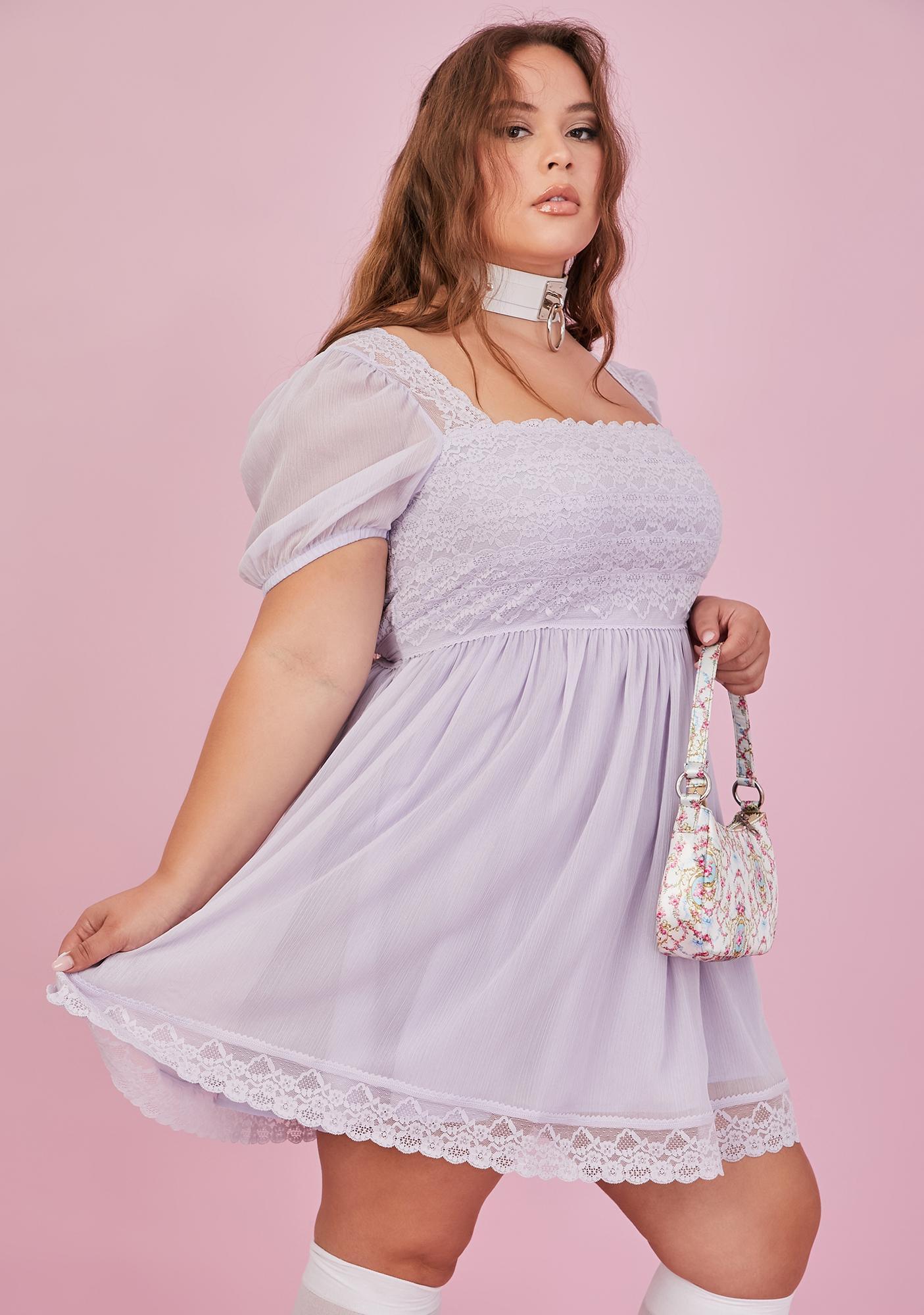 Sugar Thrillz Fairy Juicy Honeydew Pucker Babydoll Dress