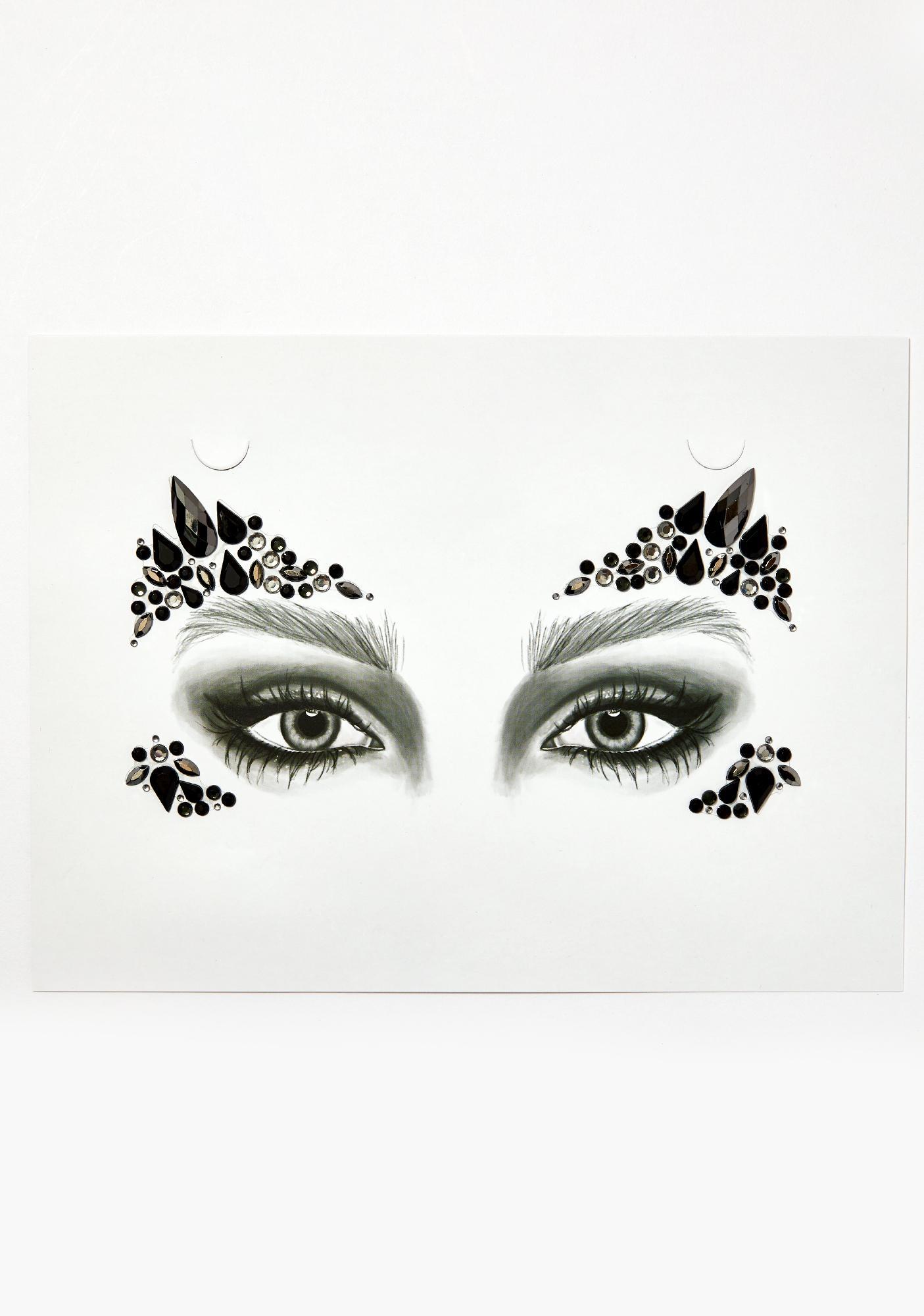 Go Get Glitter Black Swan Face Jewels