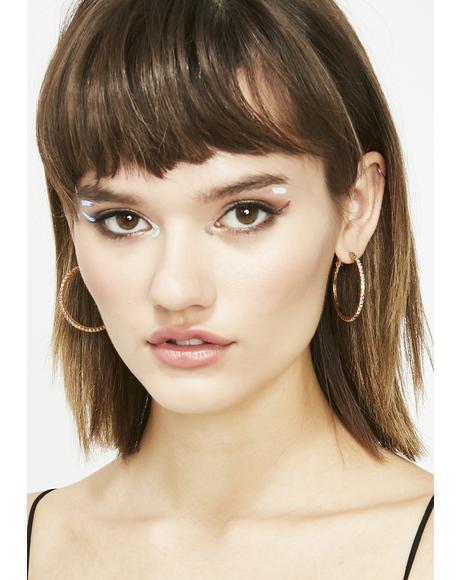 Posh Princess Hoop Earrings