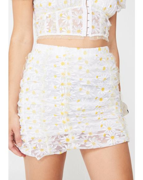 Brulee Daisy Mini Skirt
