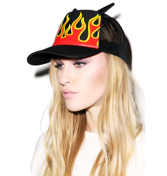 Burning Up Mesh Cap