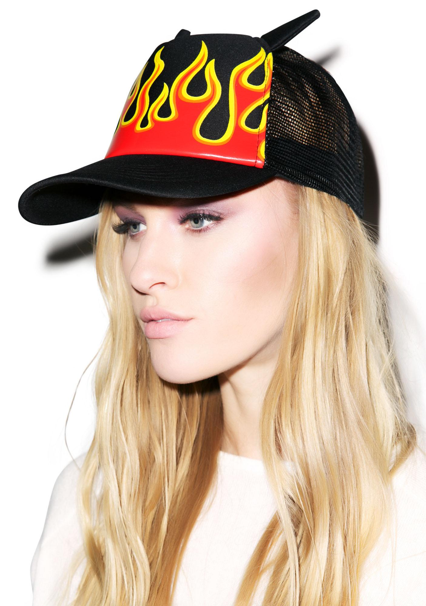 Burning Up Mesh Cap