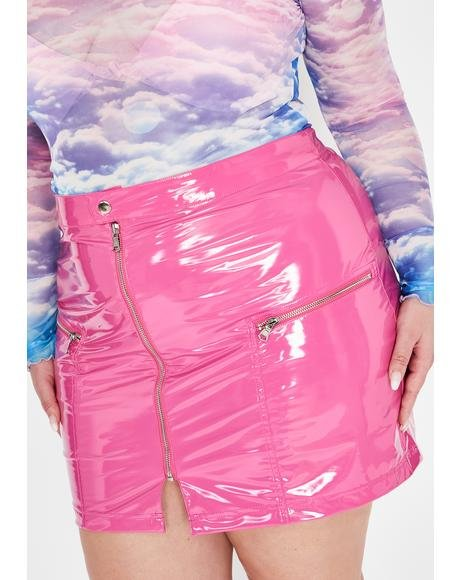She's The Real Deal Vinyl Skirt