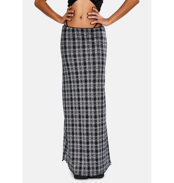 Motel Inkblot Check Sayang Skirt