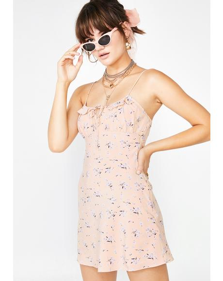 Make 'Em Blush Floral Dress