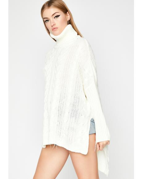 Vanilla Sounds Tempting Oversized Sweater