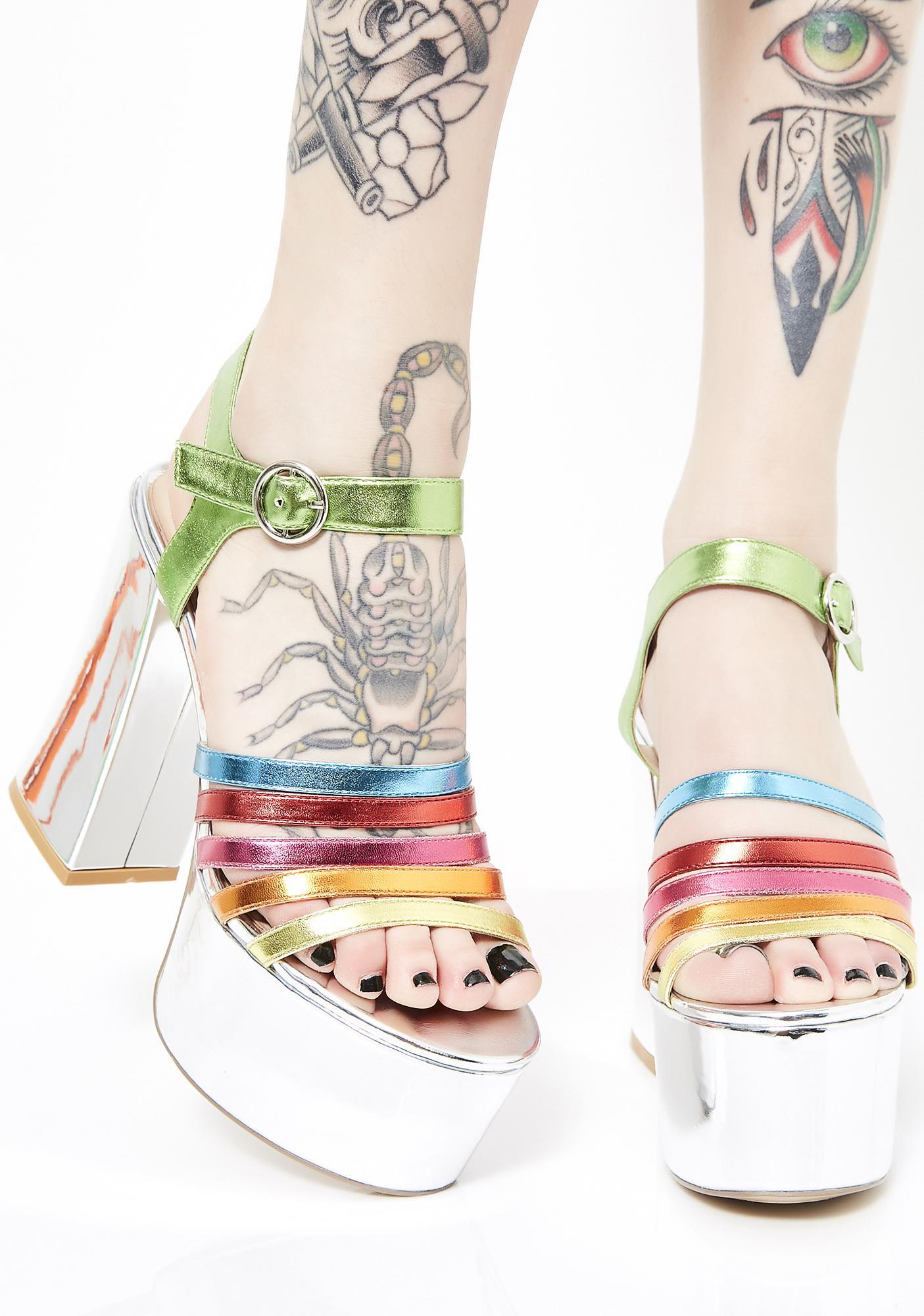 Public Desire Madagascar Platform Sandals