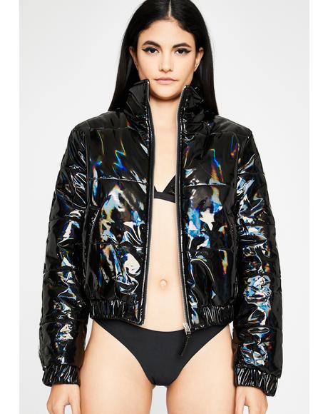 Hologram Heaux Puffer Jacket