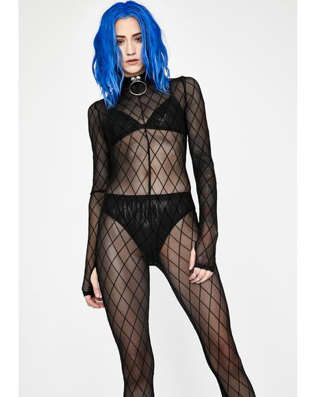 Now You're Gone Sheer Catsuit