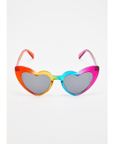 Rainbow Lover Heart Sunglasses