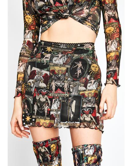 Divine Insight Mesh Skirt