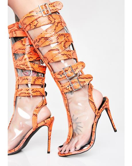 Baddie Warrior Cage Heels