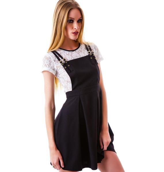 Zoe Lace Suspender Dress