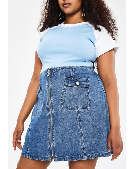 Duh You're Invited Denim Skirt