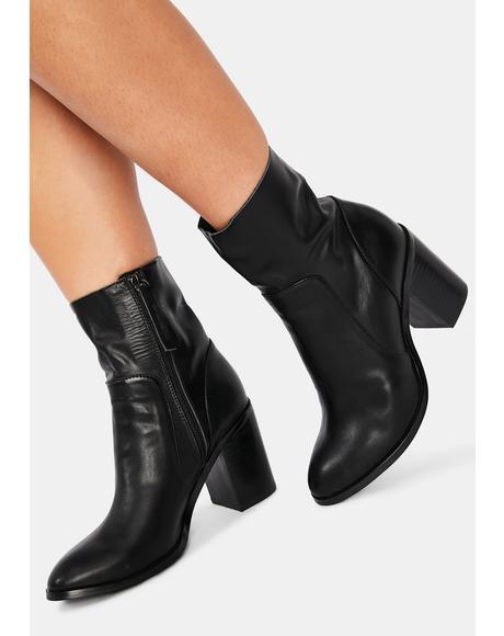 Kaya Leather Ankle Booties