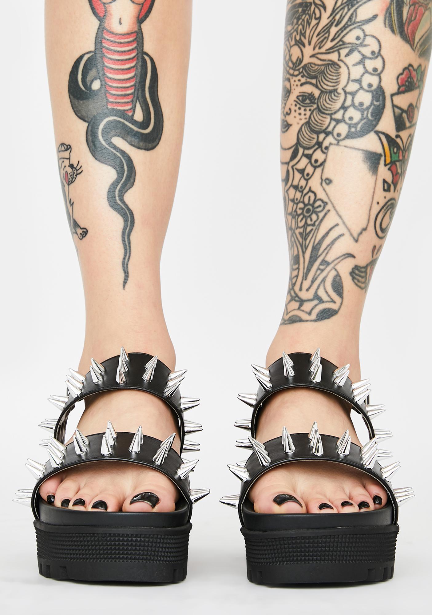 Total Annihilation Spiked Sandals