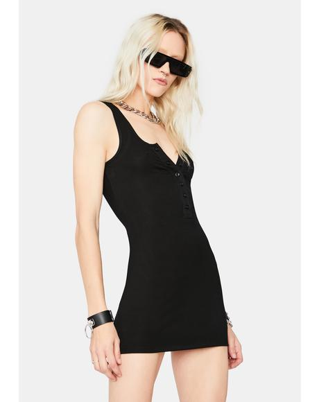 Say Goodbye Ribbed Mini Dress