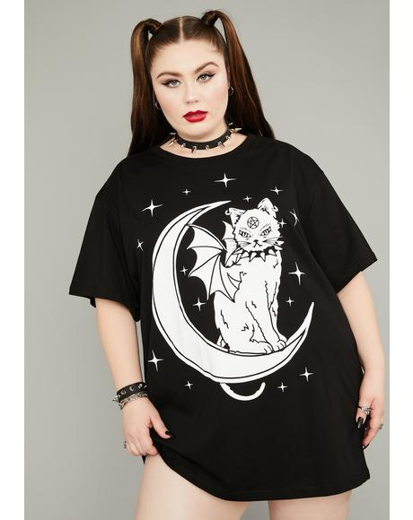 Eternal Creature Of The Night Oversized Tee