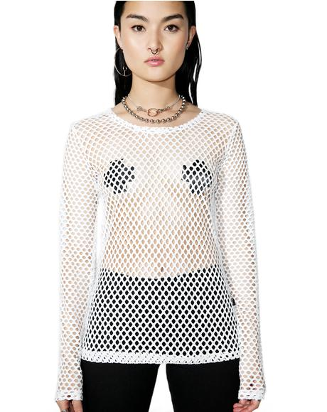 Sacred Mary Q Mesh Long Sleeve Top