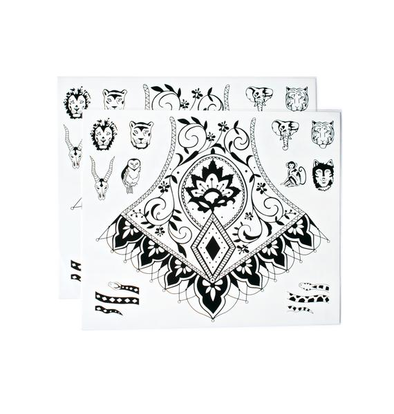 Primal Instincts Temporary Tattoos