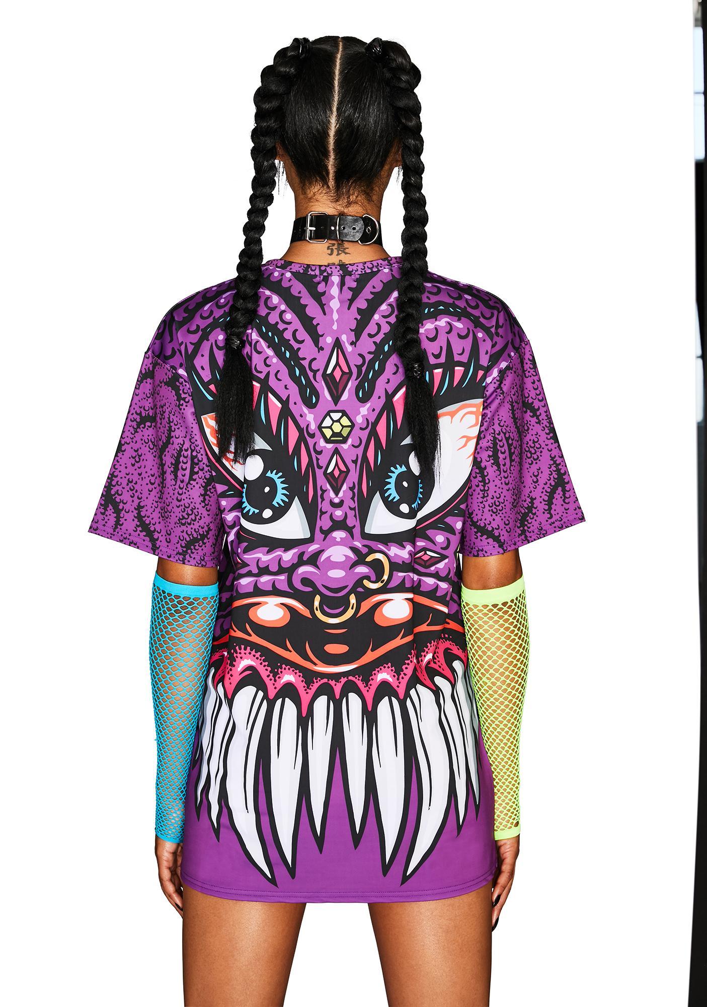 Club Exx Neon Nightmares Graphic Tee