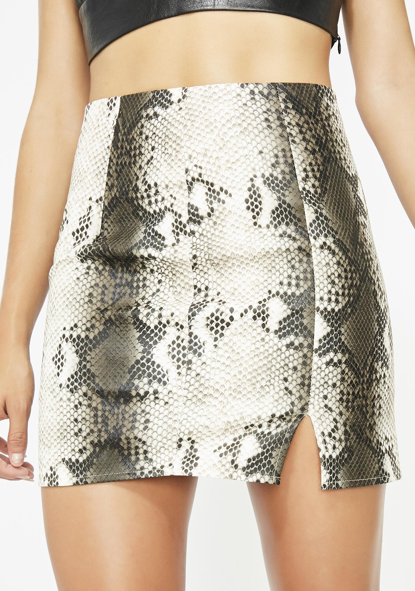 Sneaky Serpent Mini Skirt