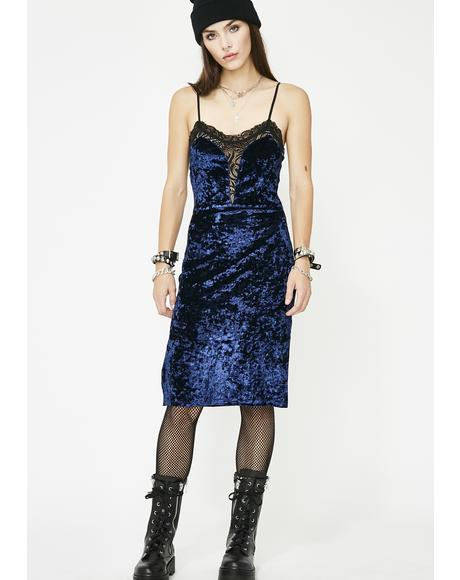 Shut Up Kiss Me Velvet Dress
