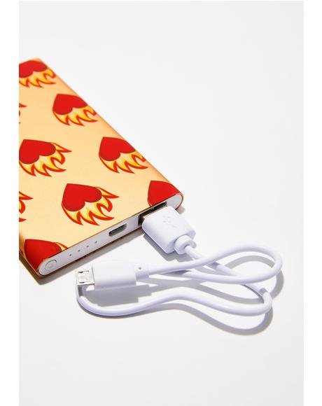Flame Heart Portable Charger