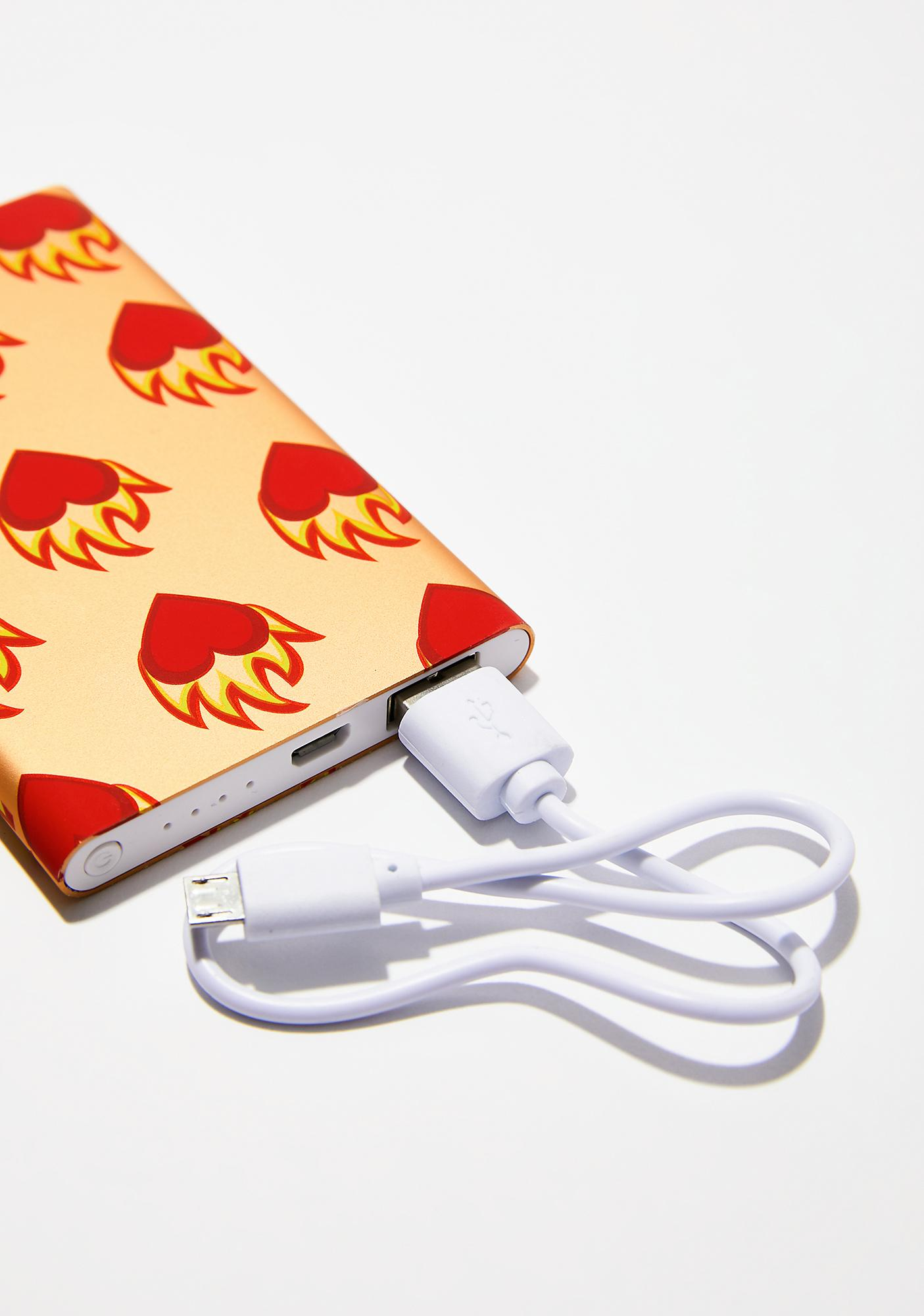 Skinnydip Flame Heart Portable Charger