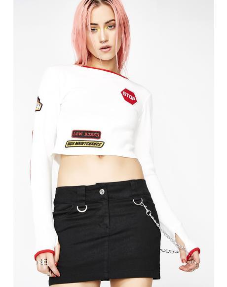 Fast Sass Chain Skirt