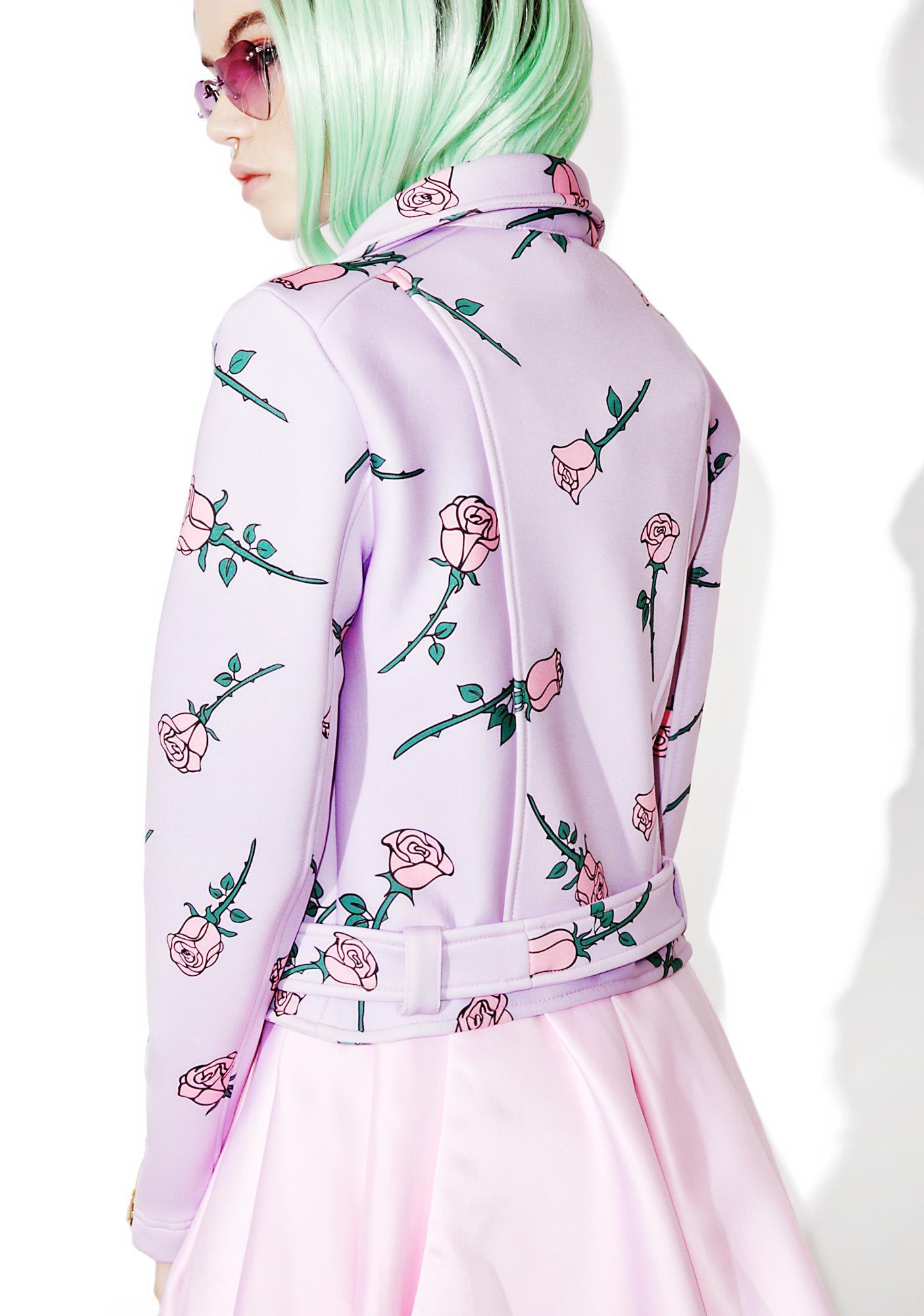Sugarpills Roses Moto Jacket