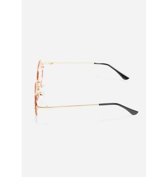 Hippie Heartbreak Oval Sunglasses