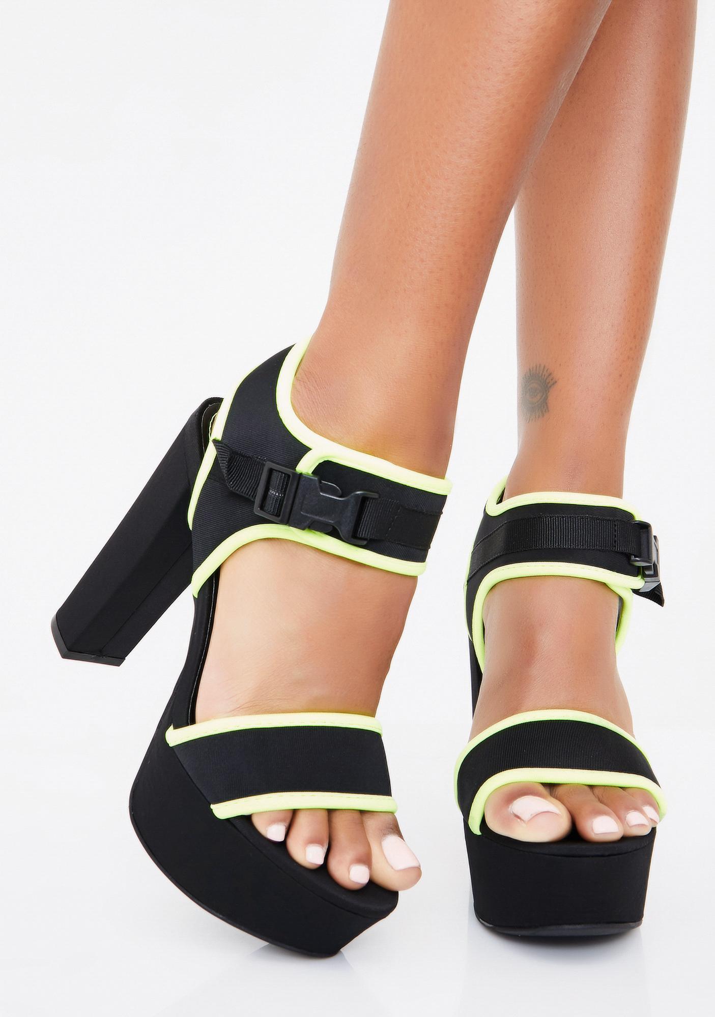 Shock VIP List Platform Heels