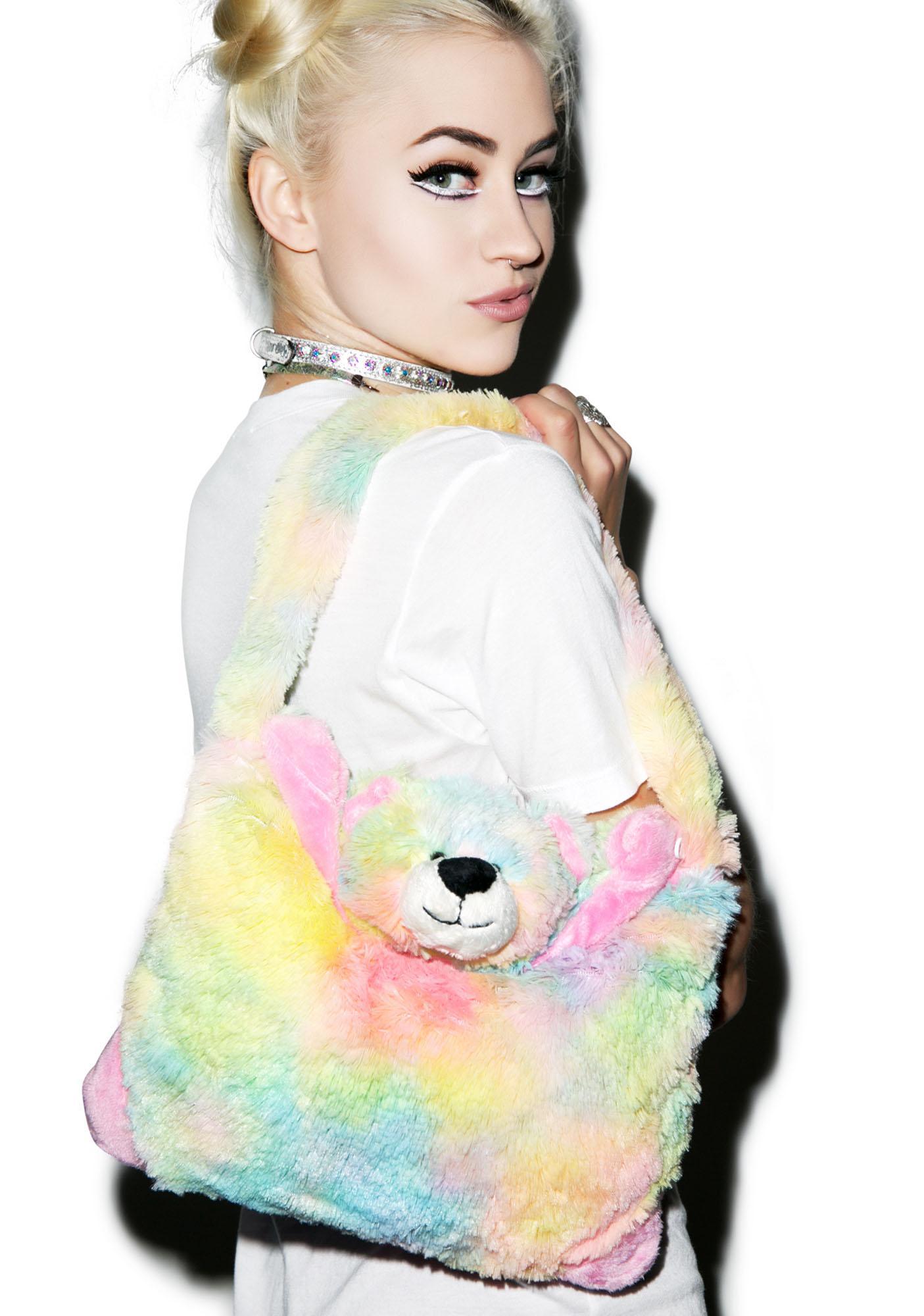 Pillow Pets Rainbow Bear Purse