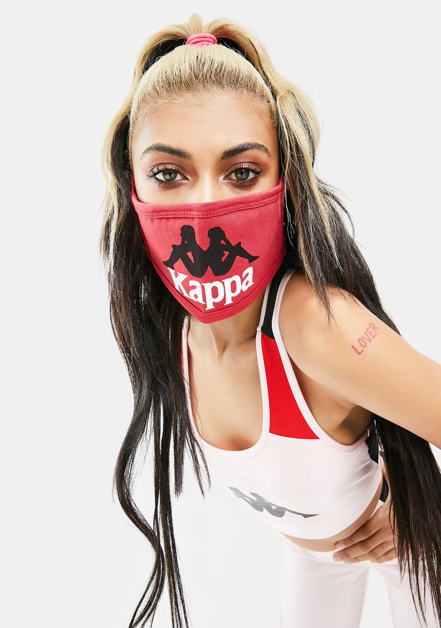 Kappa Red Authentic Wikt Face Mask
