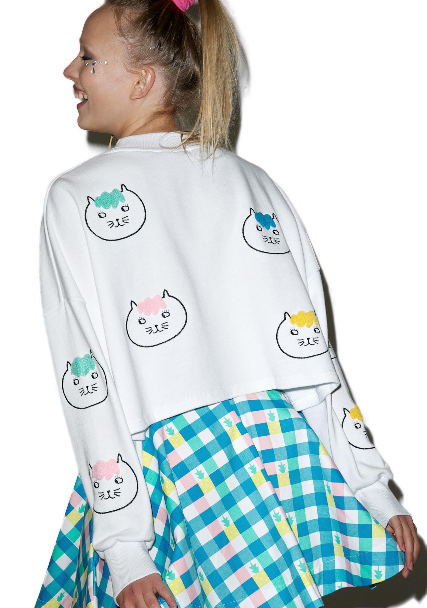 Lazy Oaf Hairy Cat Sweatshirt