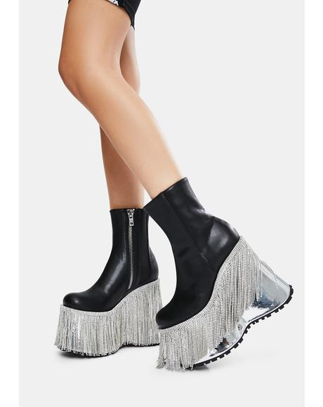 Dream Me Up Fringe Platform Boots