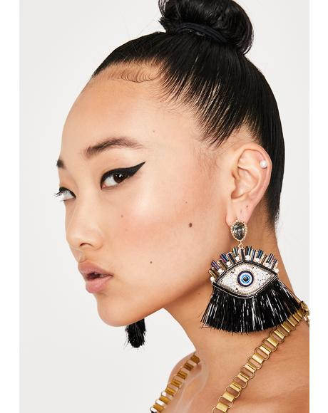 Night Pity Party Eye Earrings