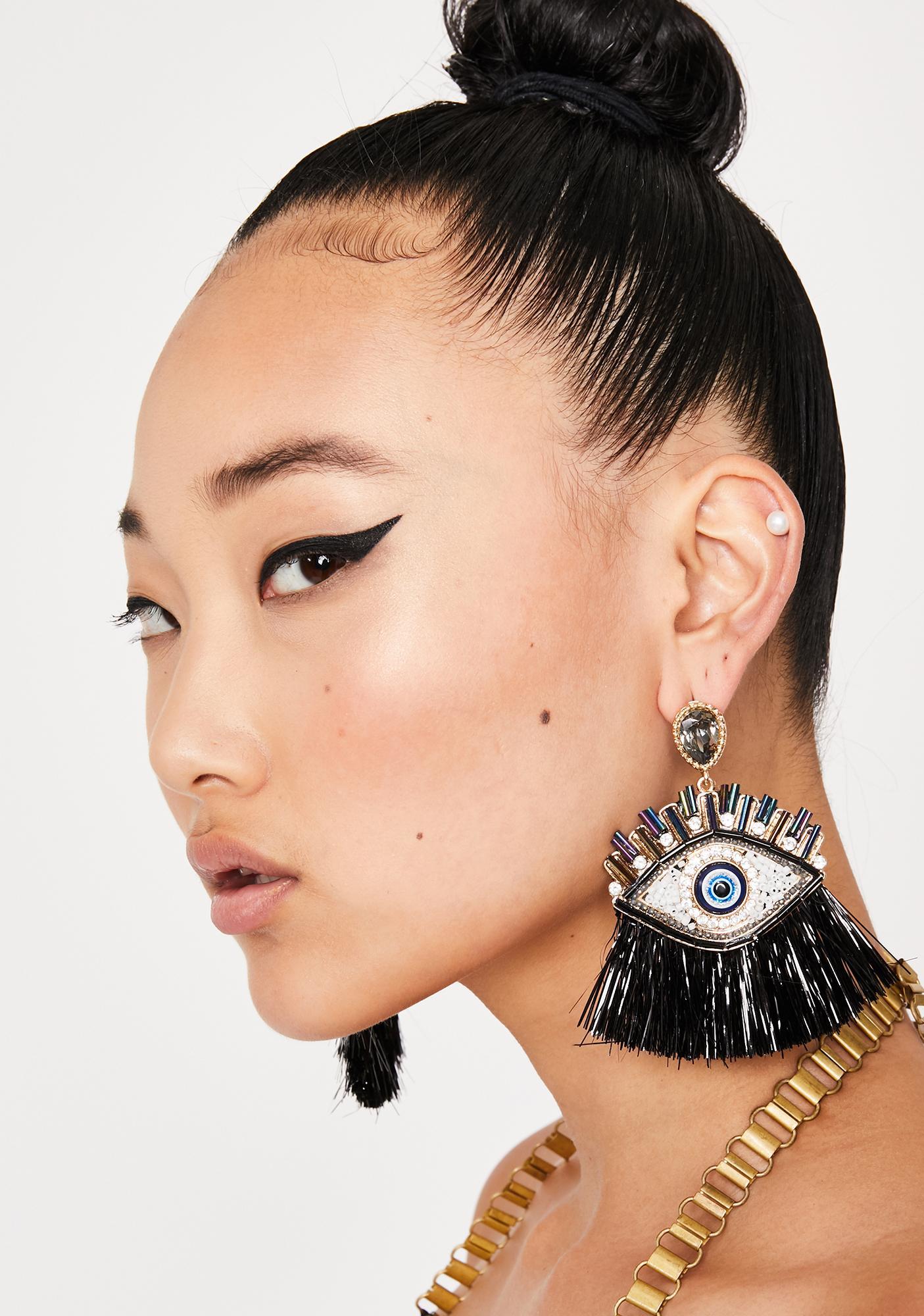 Night Pity Party Eye Earrings